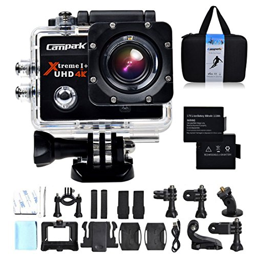 Campark-4K-30fps-WiFi-Ultra-HD-Waterproof-Sports-Action-CameraSONY-SensorTime-LapseSlow-Motion-TWO-Batteries-Included