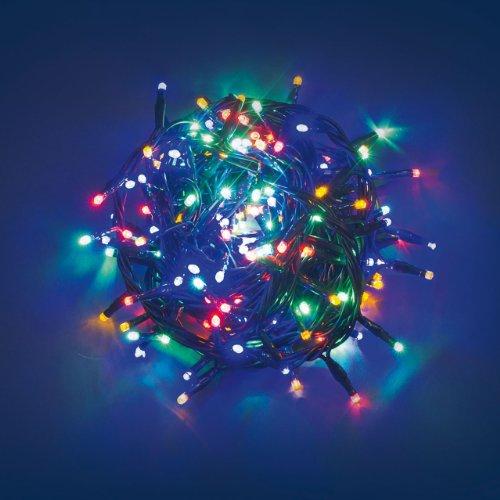 Catena 6,5 m, 180 led multicolor, cavo verde, con memory controller, luci di Natale colorate, luci per l'albero di Natale, decorazioni natalizie