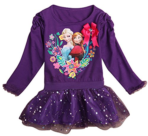 CherWow® Children Girls Long Sleeve Frozen Cosplay Pullover Sweater Dress