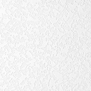 "Usg Ceiling Tile 12 "" X 12 "" Embossed Lace Style Tongue & Groove Wood Fiber White 32/Box"