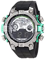 Armitron Men's 40/8251GRN Round Metalized Green Accented Digital Sport Watch by Armitron