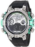 Armitron Sport Men's 40/8251GRN Round Metalized Green Accented Digital Watch