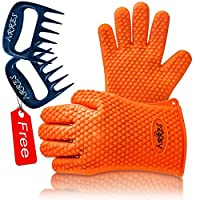 Barbecue Gloves & Pulled Pork Claws Set ? Silicone Heat Resistant Grilling Accessories & Home Kitchen Tools For Your Indoor & Outdoor Cooking Needs ? Use as BBQ Meat Turner or Oven Mitts by TYG STORE
