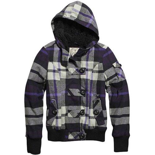 Fox Racing Bossa Nova Girls Casual Wear Jacket - Color: Dark Purple, Size: Medium