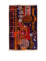 QURAMA Alfombra Belucistan Azul/Multicolor 150 x 96 cm