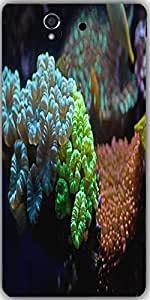 Snoogg Underwater Coral Picture Designer Protective Back Case Cover For Sony ...