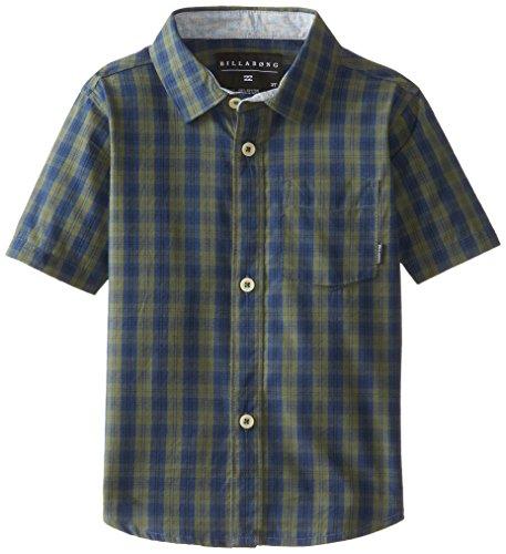 Billabong Little Boys' Kids Bradford Short Sleeve Woven, Navy, 3T front-863764