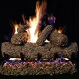 Peterson Real Fyre 18-inch Southern Oak Log Set With Vented Burner (Natural Gas Only)