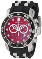 Invicta Men's 6979 Pro Diver Collection Chronograph Black Polyurethane Watch from Invicta