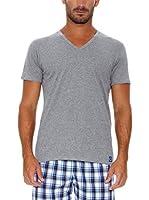 Rochas Camiseta Manga Corta Cuello en V (Gris)