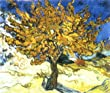 24W x 20H The Mulberry Tree by Vincent Van Gogh - Stretched Canvas w/ BRUSHSTROKES