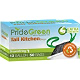 PrideGreen Extra Strength Kitchen Trash Bags, 50 Count