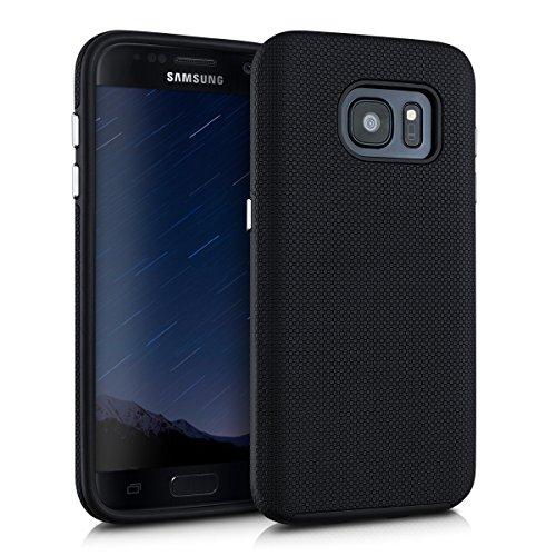 kalibri-Armor-Hlle-fr-Samsung-Galaxy-S7-TPU-Silikon-und-Kunststoff-Case-in-Schwarz