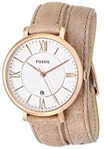 Fossil Women's ES3549 Jacqueline Analog Display Analog Quartz Beige Watch