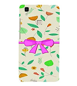 PrintVisa Stylish Cool Girl Bow 3D Hard Polycarbonate Designer Back Case Cover for Vivo V3 MAX