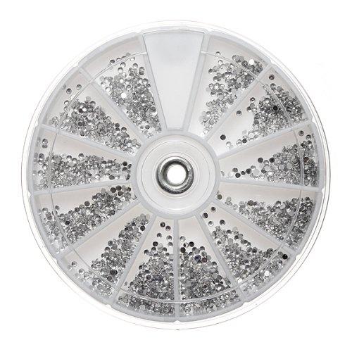 Clear Silver Gems Nail Art Round ...