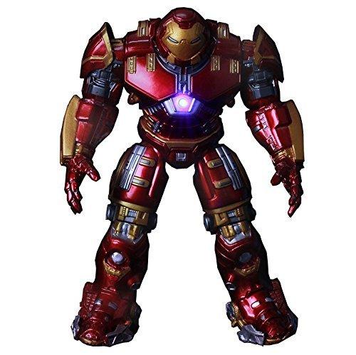 2015 Hot NEW 1pcs movie avengers 2 18cm Age of Ultron light Iron man metal Mark 43 Hulkbuster PVC Action Figure toys dolls