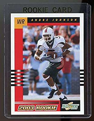 2003 Score Andre Johnson Houston Texans Rookie Card - Mint Condition Ships in a Brand New Holder