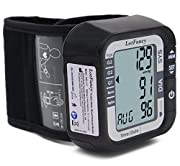 LotFancy FDA Approved Auto Digital Wrist Blood Pressure Monitor ,2 Inch Large LCD,Irregular Heartbeat Detection, 60 Records,Average Latest 3 Records (Cuff 5.31-8.46 inch)