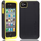 Case-Mate iPhone 4S / 4 Hybrid Tough Case, Black/Yellow ハイブリッド タフ ケース, ブラック/イエロー CM015588