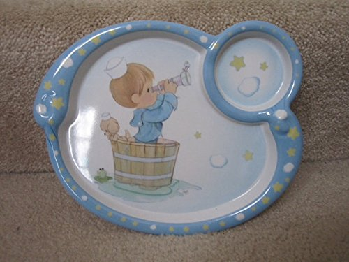 """Precious Moments """"Eyes On Jesus"""" Divided Plate, Child'S Melamine Plate"""