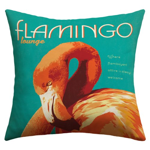 DENY Designs Anderson Design Group Flamingo Lounge Outdoor Throw Pillow 20 by 20-Inch Guide ...