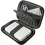 Khanka Hard Storage Carrying Travel Case Bag for Polaroid ZIP Mobile Printer w/ZINK Zero Ink Printing Technology - Black