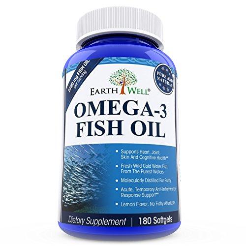 Earthwell omega 3 fish oil supplement lemon flavored 180 for Fish oil pills for dogs