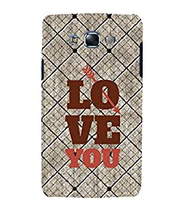 Fuson Premium Back Case Cover I love you With red Background Degined For Samsung Galaxy Grand Neo::Samsung Galaxy Grand Neo i9060