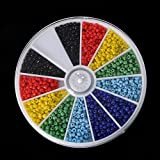 1000pcs 2mm Mixed Color Glass Seed Spacer Beads For Jewelry Making DIY (Solid)