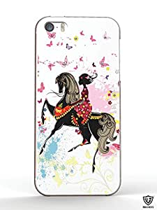 MoArmouz® Classy and Intricately Designed Casing For Back Case Cover for Apple iPhone 5 5S SE - Printed Back Cover Case for Apple iPhone 5 5S SE Colorful Printed Hard Protective Back Case Cover