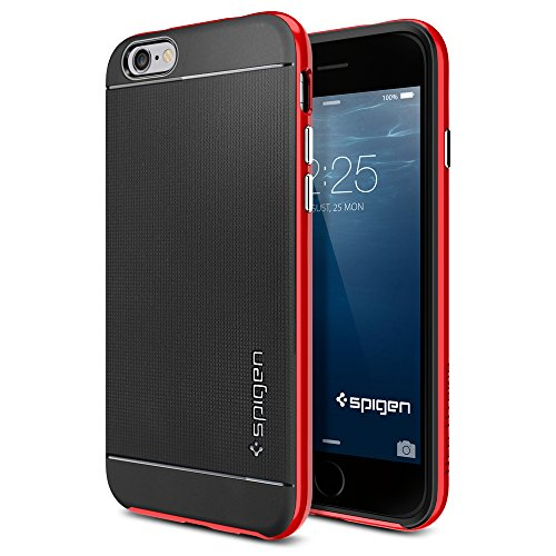 iPhone 6 ケース, Spigen® [ 二重構造 スリム フィット ] Apple iPhone 4.7 (2014) ネオ・ハイブリッド The New iPhone アイフォン6 (国内正規品) (ダンテ・レッド SGP11032)