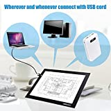 """Light box Christmas Gift Dbmier A4S Tattoo Supplies USB Powered Light Pad EXTREME Thin Artcraft Tracing LED Light Board Active Area 8.27"""" X 12.20"""" w/ 60"""" USB Power Cord"""