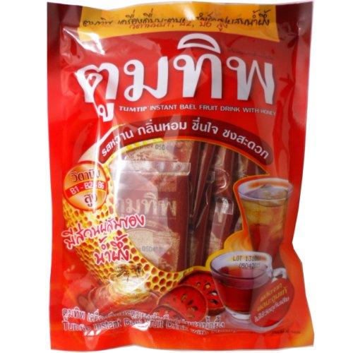 Tumtip Instant Bael Fruit Powder With Honey Herbal Health Drink High Vitamin Net Wt 156 G (12 Sachets X 13G) X 3 Packs
