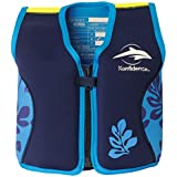 Konfidence JacketTM Pink/Navy Hibiscus Design for Swimming