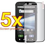 5x Motorola ATRIX 4G MB860 Premium Clear LCD Screen Protector Cover Guard Shield Flim Kit