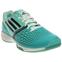 adidas CC Adiczero Tempaia III Womens Tennis Shoe (9, Vivid Mint/Black/Frost Mint)