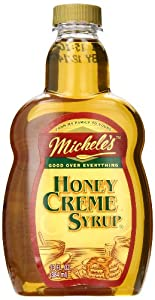 Micheles Syrup Honey Creme, 13-Oz (Pack of 4)