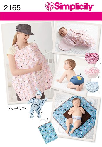 Simplicity Sewing Pattern 2165: Baby Accessories, Size A (All Sizes)