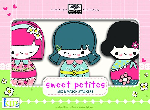 Innovative Kids Green Start Sweet Petites Wooden Toy Mix & Match Stackers