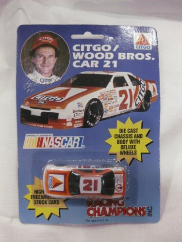 Racing Champions 1/64 Scale Die-Cast Morgan Shepard #21 Citgo/Wood Bros. Ford Thunderbird - 1