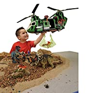 CP Toys 32 pc. Dinosaur Research Playset with Helicopter and 4 Action Figures