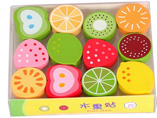 HEBE Mini Q fruit magnetic Wooden board fridge magnets(HEL364) - 1