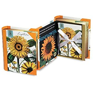 Michel Design Works Book Box Notecards, Sunflowers
