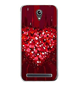 Heart of Red Hearts 2D Hard Polycarbonate Designer Back Case Cover for Asus Zenfone Go ZC500TG (5 Inches)