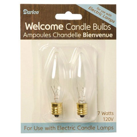 Bulk Buy: Darice Diy Crafts Replacement Bulbs For Electric Candle Lamp 2 Pieces (6-Pack) 6201-02