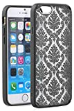 Vena [Tact Armor] Apple iPhone 6s / 6 Case [CornerGuard   Shock Absorption] Slim Protective Hybrid Case Cover for iPhone 6s / 6 - Damask [Black]