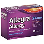 Allegra Allergy, Original Prescription Strength, 180 mg, Non-Drowsy, Tablets, 30 tablets