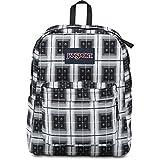 JanSport Big Student Backpack BLACK ARCADE PLAID