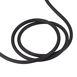 Pandahall 10.94 Yards/Roll 5mm PVC Tubing Rubber Solid Cord Solid Rubber Tube Cord with Plasic Spool (Black) (Color: Black, Tamaño: 5mm)